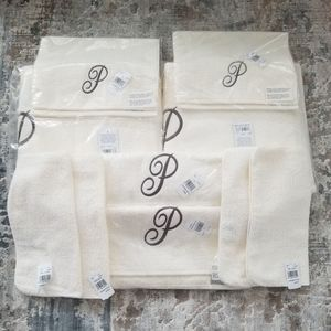 "Avanti Premier Monogram Scripted ""P"" Towel Set"